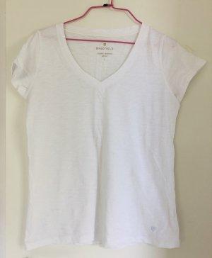 Tshirt, Basefield, Größe S/36, weiß mit V-Ausschnitt