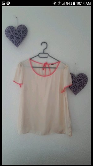 Tshirt Bluse mit pinken Umrandungen