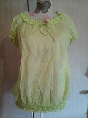 Tshirt Bluse Tunika gelb von Tom Tailor Gr. 42 Puffärmel Top