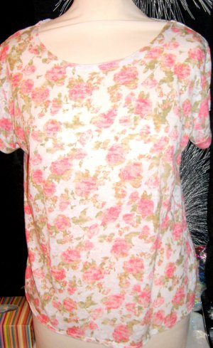 Tshirt Cotton Pink Roses