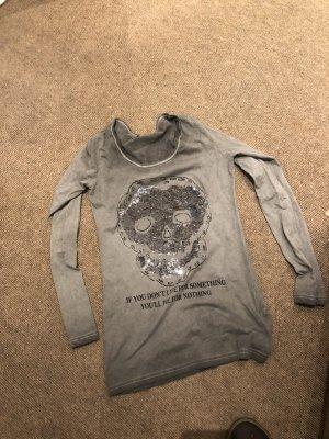 Shirt met print groen-grijs-khaki
