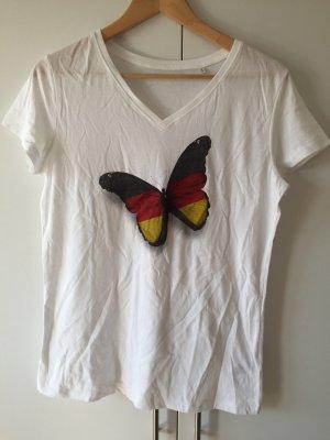 Camisa deportiva blanco-negro