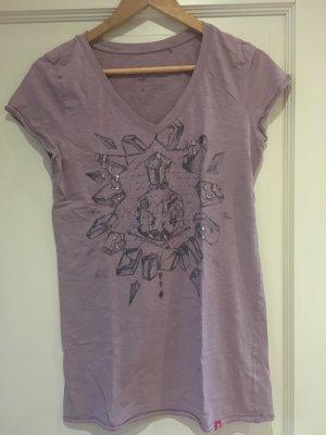 edc by Esprit Camiseta estampada malva-violeta grisáceo