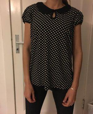 Tshirt gepunktet schwarz/weiß