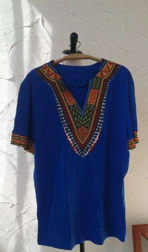 Camisa larga azul