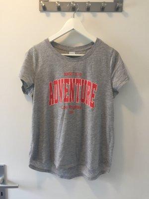 Tshirt grau Print adventure