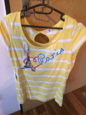 Tshirt Größe 38 gelb weiss