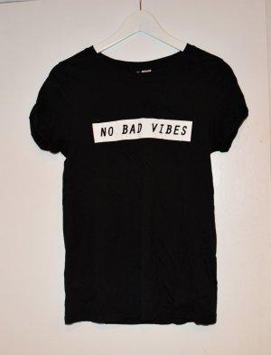 Tshirt - H&M - Print No Bad Vibes - Gr. S