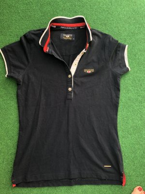 Polo shirt donkerblauw Polyester