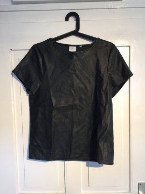 Tshirt in Lederoptik