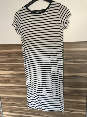 Bershka Shirt Dress white-black