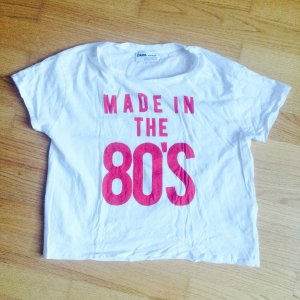 Tshirt Made in The 80s rot weiß Crop Cropped Cropshirt