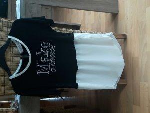T-shirt blanc-noir