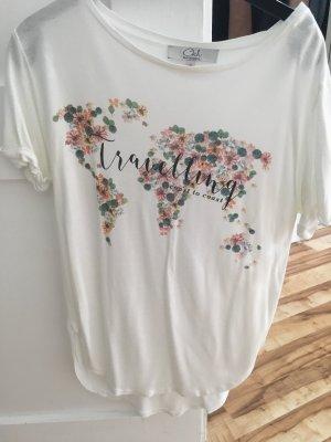 C&A Camiseta estampada blanco
