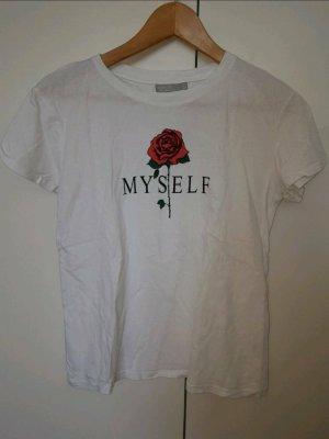 Tshirt mit Aufdruck von Bershka