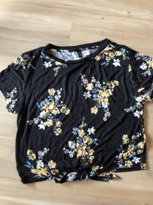 H&M Camisa recortada multicolor Algodón
