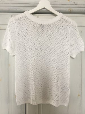 H&M Divided Camisa de ganchillo blanco