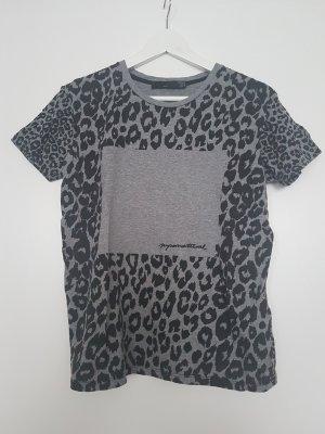 Zara Trafaluc T-shirt zwart-grijs Katoen