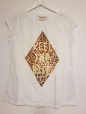 Zara Trafaluc T-shirt wit-bruin