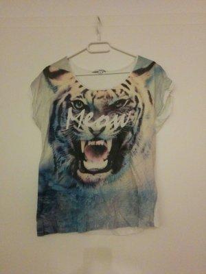 Tshirt mit Meow und Tigerprint