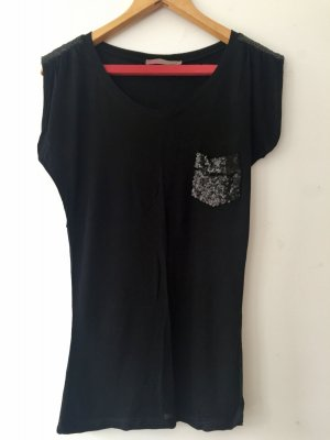 Saint Tropez T-Shirt black viscose