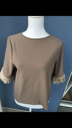 Zara T-shirt marron clair