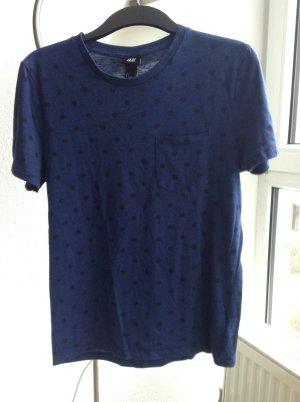 Tshirt mit Pünktchen in Blau