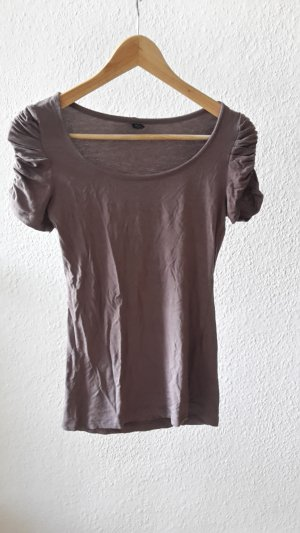 Tshirt mit Puffärmeln in hellbraun XS 34