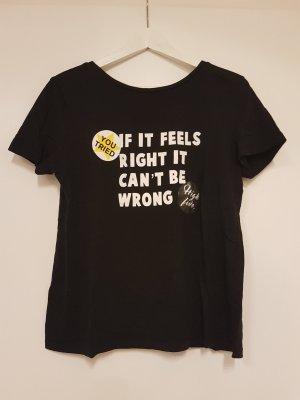 Zara Trafaluc T-shirt zwart Katoen