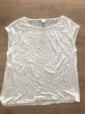 Tshirt mit verspieltem Rücken aus Spitze