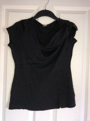 Quiero Cowl-Neck Shirt black