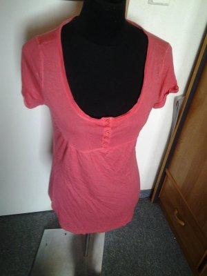Tshirt - pink - Knöpfe - Only - Größe S
