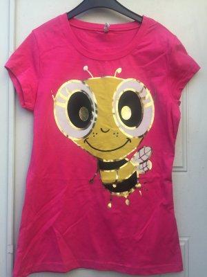 Tshirt Pink mit Aufdruck