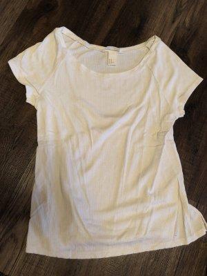 H&M Ribbed Shirt cream