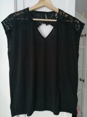 Tshirt schwarz schöner Rückenausschnitt Gr.L