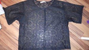 Tshirt Spitze schwarz