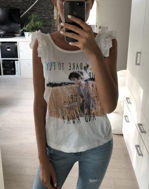 Tshirt/Top, Vero Moda, S/36, weiß mit Aufdruck