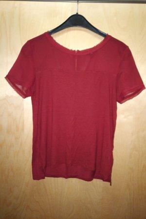 Tshirt Transparenter Arm/Dekoltee Bereich