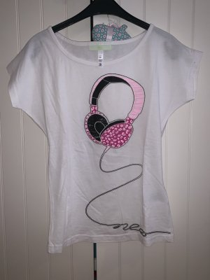 Adidas T-shirt wit-roze