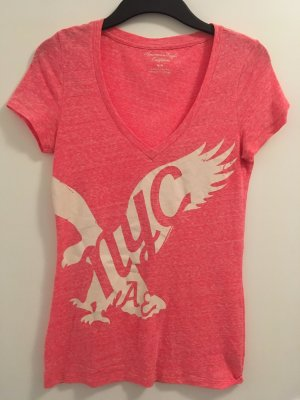 American Eagle Outfitters Print Shirt neon pink-pink