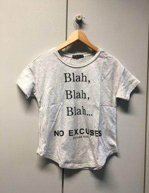 Bershka Shirt light grey-black