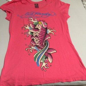 Tshirt von Ed Hardy in pink