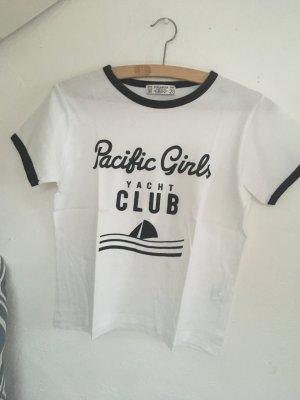 Pull & Bear Camiseta blanco-azul oscuro