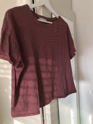 Zara Gestreept shirt veelkleurig