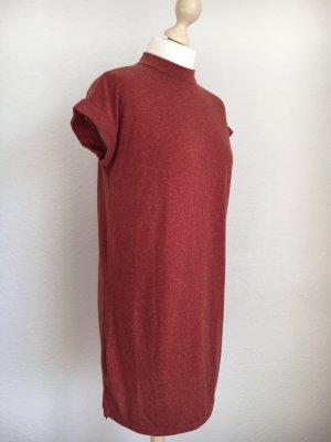 Tshirtkleid Kleid Shirt rot meliert ziegelrot 36