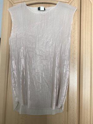 Apanage Camisa de un solo hombro color oro