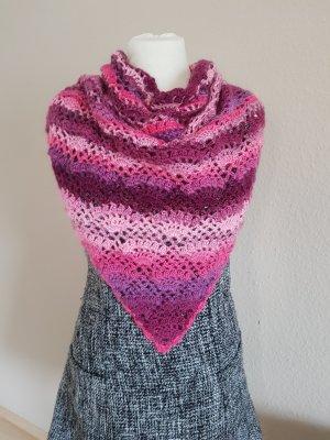 Gehaakte sjaal framboosrood