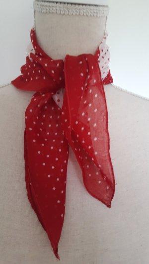 Kerchief white-red