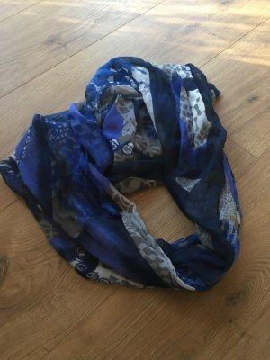 Halsdoek donkerblauw-staalblauw