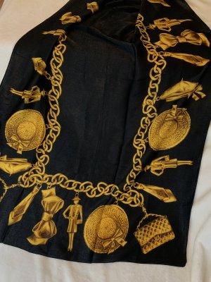 Halsdoek zwart-goud
